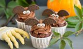 Кексчета за Хелоуин с шоколадова глазура