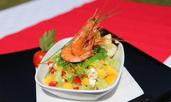 Морска салата с уакаме и манго
