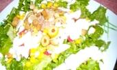 """Средиземноморска салата с дресинг """"Олинеза"""""""