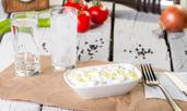 Салата с патладжан, яйца и майонеза