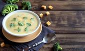 Крем супа с броколи и сирене