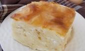 Баница със сирене, яйца и прясно мляко