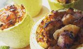Пълнени тиквички с пилешко месо