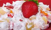 Плодова салата с маскарпоне