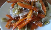 Пиле с моркови и праз лук