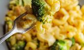 Паста с пиле и броколи