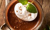 Шоколадов пудинг с банан и авокадо