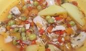 Диетично пиле със зеленчуци