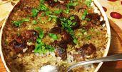 Пилешки дробчета с ориз на фурна