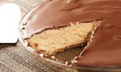 Пай с фъстъчено масло и шоколад без печене
