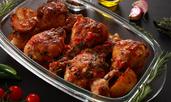 Пилешки бутчета в марината от мътеница