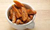 Печени сладки картофи с мед и джинджифил