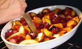 Печени плодове с меласа и ванилия
