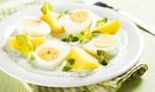 Варени яйца в специален сос
