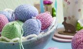 Великденска украса за яйца от прежда