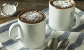 Какаов мъфин в микровълнова за 2 минути