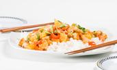 Пиле по китайски с ананас