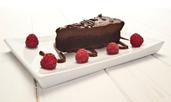 Чийзкейк с течен шоколад без печене