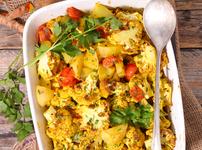 Ароматни картофи с карфиол