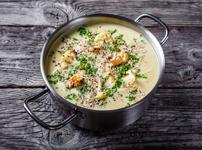 Супа с карфиол, кашу и авокадо