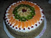Плодова торта с бял крем