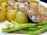 Пъстърва с картофи на пара