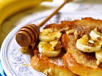 Запечени френски филийки с  мед и орехи