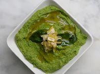 Домашен хумус със спанак и артишок