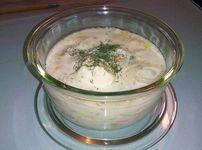 Супа с лук и сметана