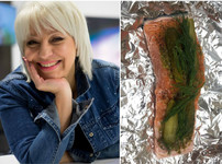Любимата рецепта на Джуджи е сьомга с кисели краставички и копър