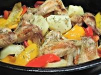 Пилешко печено по селски