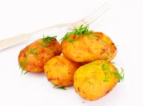 Печени пресни картофи с пармезан, чесън и копър
