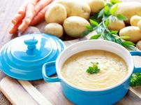 Крем супа от картофи и със сирене