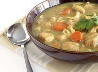 Люта пилешка супа с нудълс