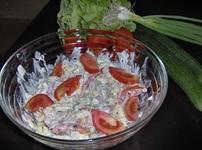 Пролетна салата с фусили