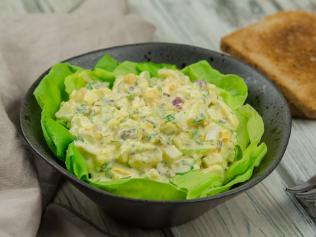 Яйчена салата с шунка