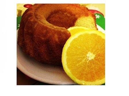 Кекс с портокалови корички и ром