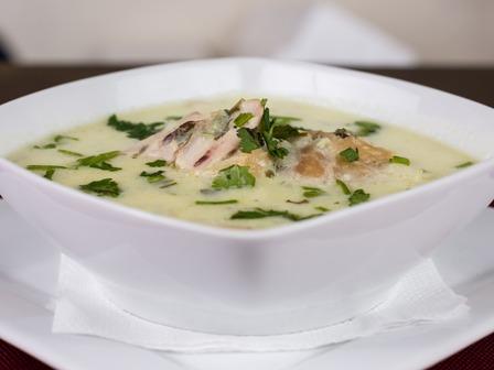 Пилешка супа с лук и ориз