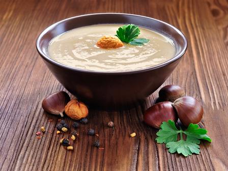 Коледна крем супа от кестени