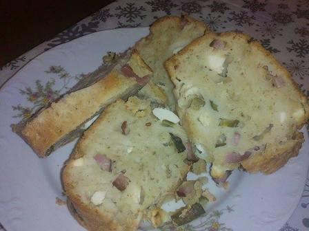 Солен кекс със салам и сирене