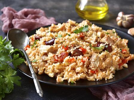 Джамбалая с пиле и ориз